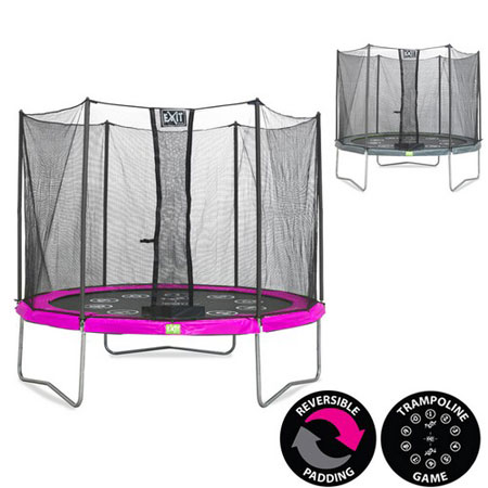 Twist 12ft Trampoline (Pink/Grey)