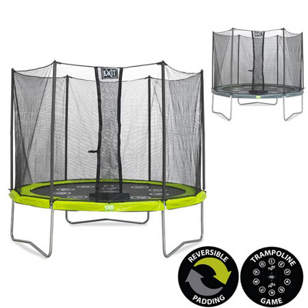 Twist 14ft Trampoline (Green/Grey)