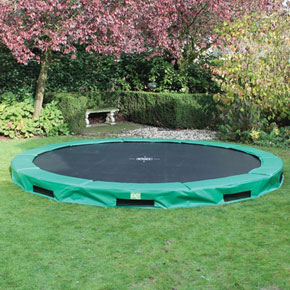 InTerra 14ft Round Trampoline Green
