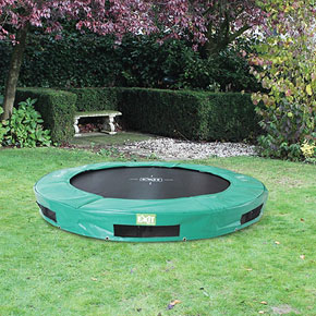 InTerra 8ft Round Trampoline Green