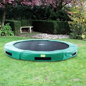 InTerra 10ft Round Trampoline Green