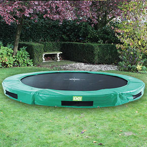 InTerra 12ft Round Trampoline Green