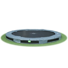 InTerra 12ft Round Trampoline Grey