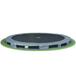 InTerra 14ft Round Trampoline Grey